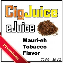 CigJuice -- Maurier Tobacco Flavor (30 ml Bottles)